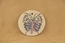 Hopi Butterfly Flat/Disc/tile by Clinton Polacca Nampeyo