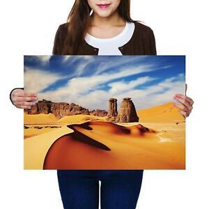 A2 | Cool Sahara Desert Sand Dunes - Size A2 Poster Print Photo Art Gift #2344