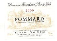 Etiquette de vin - POMMARD 2000 - Domaine Bouchard Père et Fils   (187)