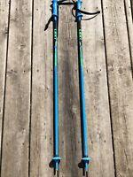 "$260 LEKI Viper Carbon /& Aircraft Aluminum Ski Poles 110CM 44/"" Downhill Skiing"