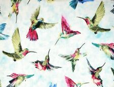 FAT QUARTER FABRIC  HUMMINGBIRDS  100% COTTON  HUMMINGBIRD  BEAUTIFUL BIRDS  FQ