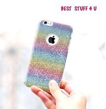 GLITTER SPARKLY BACK Fits IPhone Soft Bling Shock Proof Silicone Case Cover 1b