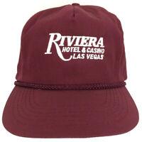 Vtg Riviera Hat Hotel Casino Las Vegas Cap Rope Logo Trucker Baseball Golf Beach