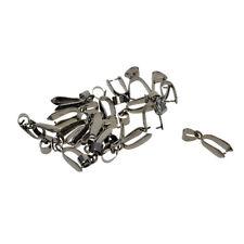 20Pcs Antique Bronze Pendant Pinch Clip Bail Connector DIY Findings Necklace