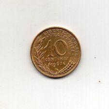 Francia Chapado en Oro 24K 10 céntimos 1967