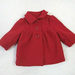 Old Navy Red Girls Overcoat Size 3-6 Months