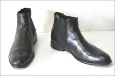 MINELLI Bottines Boots Homme Tout Cuir Noir Bandes Elastiquées T 43 TBE