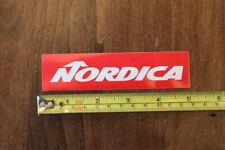 NORDICA Ski STICKER Decal NEW Small Red