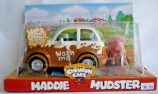 MADDIE MUDSTER CHEVRON CAR WITH PIG FINGER PUPPET  NIB