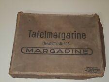 Rare boite carton margarine beurre ration soldat Allemand WW2 1941