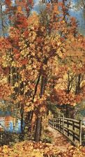 "24"" Fabric Panel - Timeless Treasures Autumn Landscape Fall Tree Wallhanging"