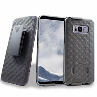 for Samsung Galaxy S8+ PLUS Holster Shell Hard Case Belt Clip Holster Kickstand