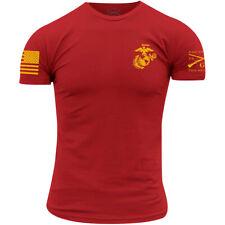 Grunt estilo USMC-Corps Colores T-Shirt-Rojo
