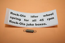 Rock-Ola juke jukebox turntable idler wheel spring. HARD TO FIND!  BRAND NEW!