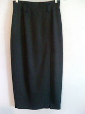 Anne Klein II Women's Dark Grey Long Slit Wool Skirt - Size 4