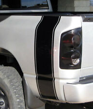 Truck car vinyl decal, plain racing stripes Dodge Ram rear bed (both sides)