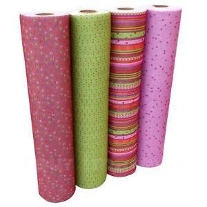 Design Craft Felt, 4 Colours Dusky Pink/Burgundy & Green Designs Per Half Metre
