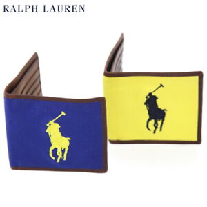 Polo Ralph Lauren Big Pony Wallet Canvas with Leather - 2 colors -