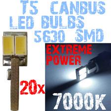 20x HIGH LED T5 5630 5000K Wit Licht Dashboard Interior Panel Instruments 1D12 1