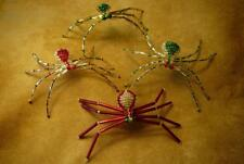 Four Colorful Beaded Spiders & Stories - Christmas - Native American