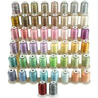 Variegated Polyester Embroidery Machine Thread Kit 500M Each Spool - 50 Colors