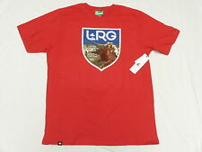 NWT NEW Mens LRG L-R-G T-Shirt Fair Game Graphic Print Tee Red Urban Sz S N085