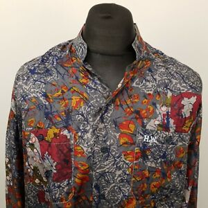 RETRO Vintage Shirt Crazy Funky Hippy 80s 90s LOOSE MEDIUM RELAXED Abstract