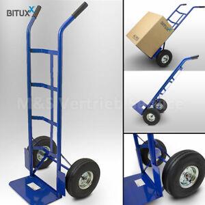Bituxx Sackkarre 200kg mit Luftbereifung Transportkarre Stapelkarre B-Ware