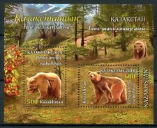 Kazakhstan 2018 MNH Himalayan Brown Bears 2v M/S Trees Wild Animals Stamps