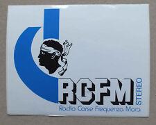 AUTOCOLLANT RADIO RCFM - RADIO CORSE FREQUENZA MORA STEREO *