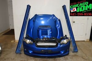 JDM Subaru Legacy GT Sedan Front End Nose Cut Bumper STi Lip Hood Fender Skirts