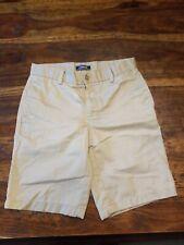 New listing Lands End School Uniform Boy Shorts Plain Front Size 12 H Husky Classic Khaki