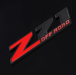 Z71 OFF ROAD Black Red Front Hood Bonnet Grille Emblem Badge Decal Sticker