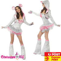 Ladies Fever Sexy Mouse Costume Animal Jungle Zoo Party Rat Womens Fancy Dress
