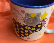 Mug Cat Angels Signed Potpourri Press 1993 Made In Korea Vintage Coffee Cup