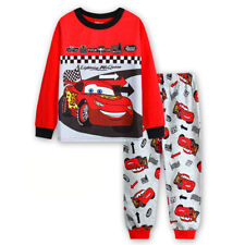 Toddlers Baby Boys 2 PCS Outfits Pyjamas Nightwear Kids Car PJs Size 1-7 Years