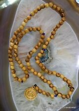 Baha'i praying beads 95 olive wood beads wood ending Bahai gift from Haifa