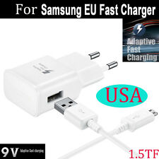 For Samsung Galaxy Note 4 5 S6 EU Wall Travel Charger Adaptive Fast Charging