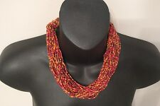 Handmade Necklace Artist Tribe Jewelry Stunning Mega Strand African Beaded