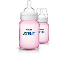 PHILIPS AVENT 2x260ml Baby-Flaschen ROSA SCF564/27 Anti-Kolik Classic+