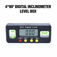 4pcs/set Magnet Digital Inclinometer Level Protractor Angle Finder Bevel Gauge