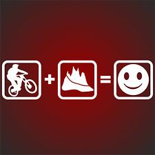 1 Fun Style Aufkleber Sticker Downhill Berge Mountain Bike Sport Radfahrer Rad F