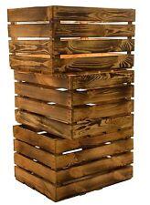 3 x solide Flamboyant boîtes de pommes cageot à fruits en bois à Caisse à vin