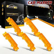 5xYellow 6 LED Cab Marker Roof Running Reflective Lights for Volvo VN/VNL 2003+
