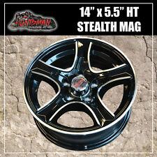 14x5.5 HT Holden Stealth Alloy Mag Wheel. Caravan Camper Trailer Boat Jetski
