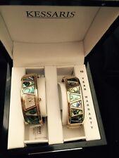 Vintage Women's Kessaris Watch & Bracelet~Gold Tone~Quartz~Abalone Type~ Analog