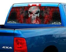 Punisher Blood plate Rear Window Graphic Decal Sticker Truck SUV