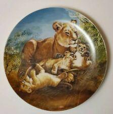 Collector Plate Yin-Rei Hicks Lion Cubs Coa