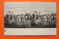 Afrika Nordafrika Stereo Card Beduinen 1900 Tanz Gewehre Tracht North Africa ++