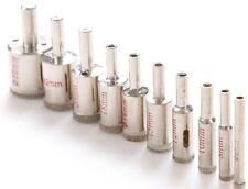 10 Diamond Coated Core Drill Bit Tile Marble Glass Ceramic Hole Saw Set 6mm-30mm